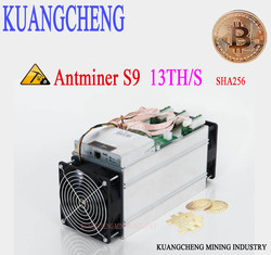 85 ~ 95% Nuevo Viejo entrega gratuita KUANGCHENG AntMine S9 13T 16nm Btc minero Asic minero Btc minero máquina de minar bitcoin