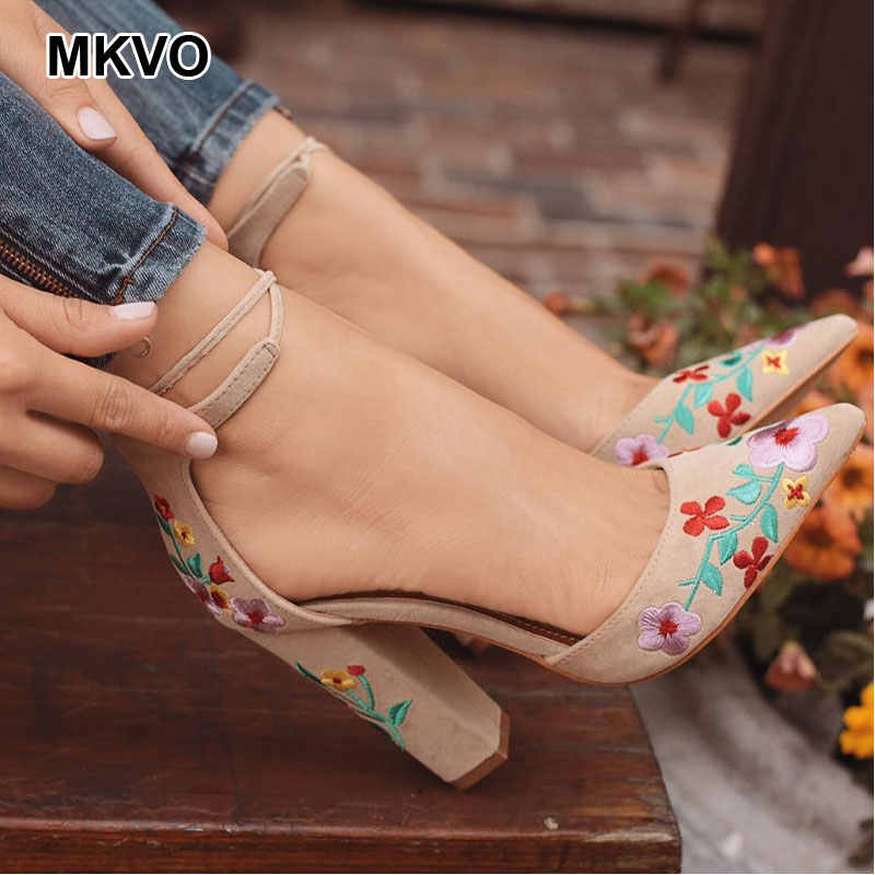 luxury Embroidery Frosted high heels large size clear sexy Spring Summer Autumn gucced-wedding women's Pumps Ladies-Sandals shoes