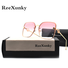 2019 Square Vintage Sunglasses Women Brand Designer Metal Frame Shades For Women Gradient Sun glasses Men UV400 Sunglass okulary маска для лица биобьюти биобьюти bi021lwcttk3