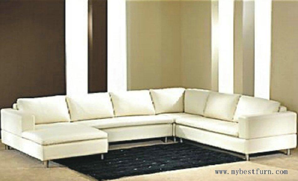 Darmowa wysyłka nowoczesna Sofa, Top ziarna skóry bydlęcej, dostosowane sofa różnej S8576