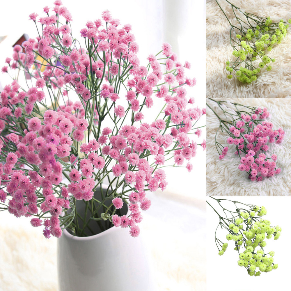 Simulation Gypsophila Silk Flowers Bouquet Wedding Flower Home Decoration LP