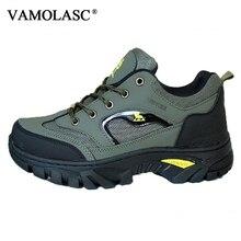 VAMOLASC New Men Outdoor Anti-Slip Height Increasing Breathable Hiking Shoes Waterproof Mountain Walking Trekking Boots