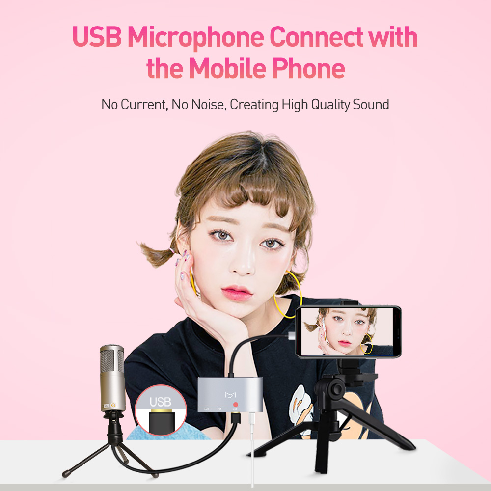 Image 2 - MeloAudio Lightning to USB OTG Audio Adapter, Male to Female, with Broadcast Charge Aux Jack Sync Function, No APP Needed
