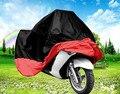 Firm motocicleta cubre lluvia dom polvo prevenga toman el sol a prueba de agua negro rojo de la motocicleta del coche cubre gran calidad