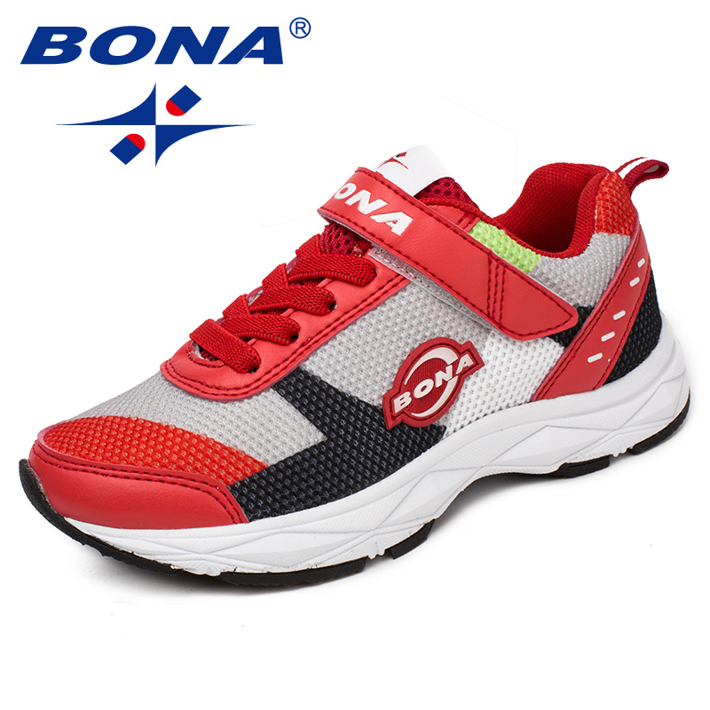 BONA New Arrival Style Children Casual Shoes Mesh Boys Shoes Hook & Loop Girls Loafers Outdoor Fashion Sneakers Free Shipping