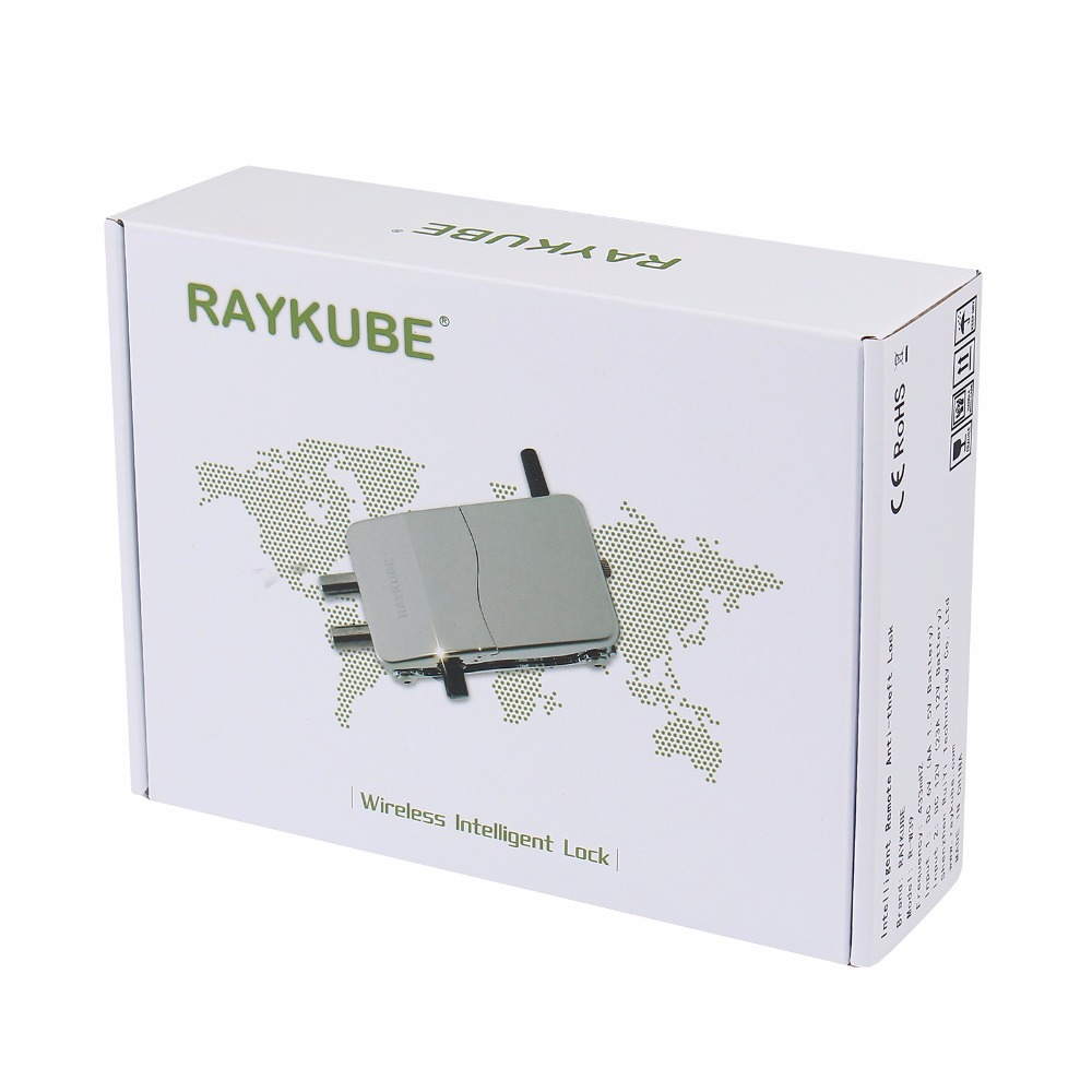 Image 4 - RAYKUBE Wireless Electronic Lock With Remote Control Keys Opening Invisible Intelligent Lock Wireless Keyless Door Lock R W39-in Electric Lock from Security & Protection