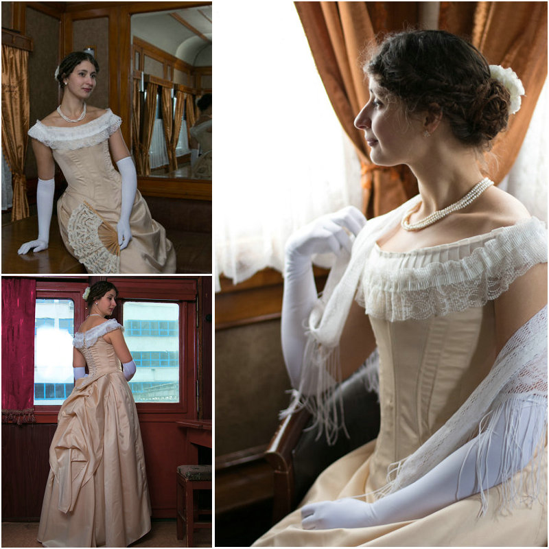 Customer-made Vintage Costumes Victorian Dresses 1860s Civil War Southern Belle Gown Ball  Marie Antoinette dresses US4-36 C-492