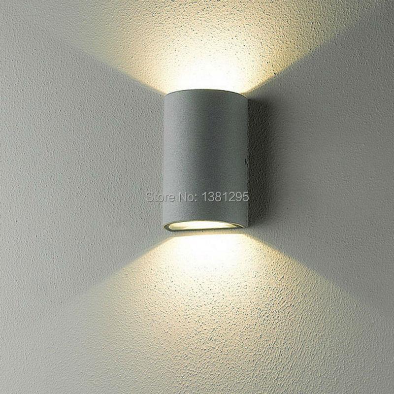 Наружное освещение в стиле модерн настенный светильник наружный крыльцо Светильник ing светодиодный настенный светильник водонепроницаемый вверх и вниз сад настенный светильник бра s IP54