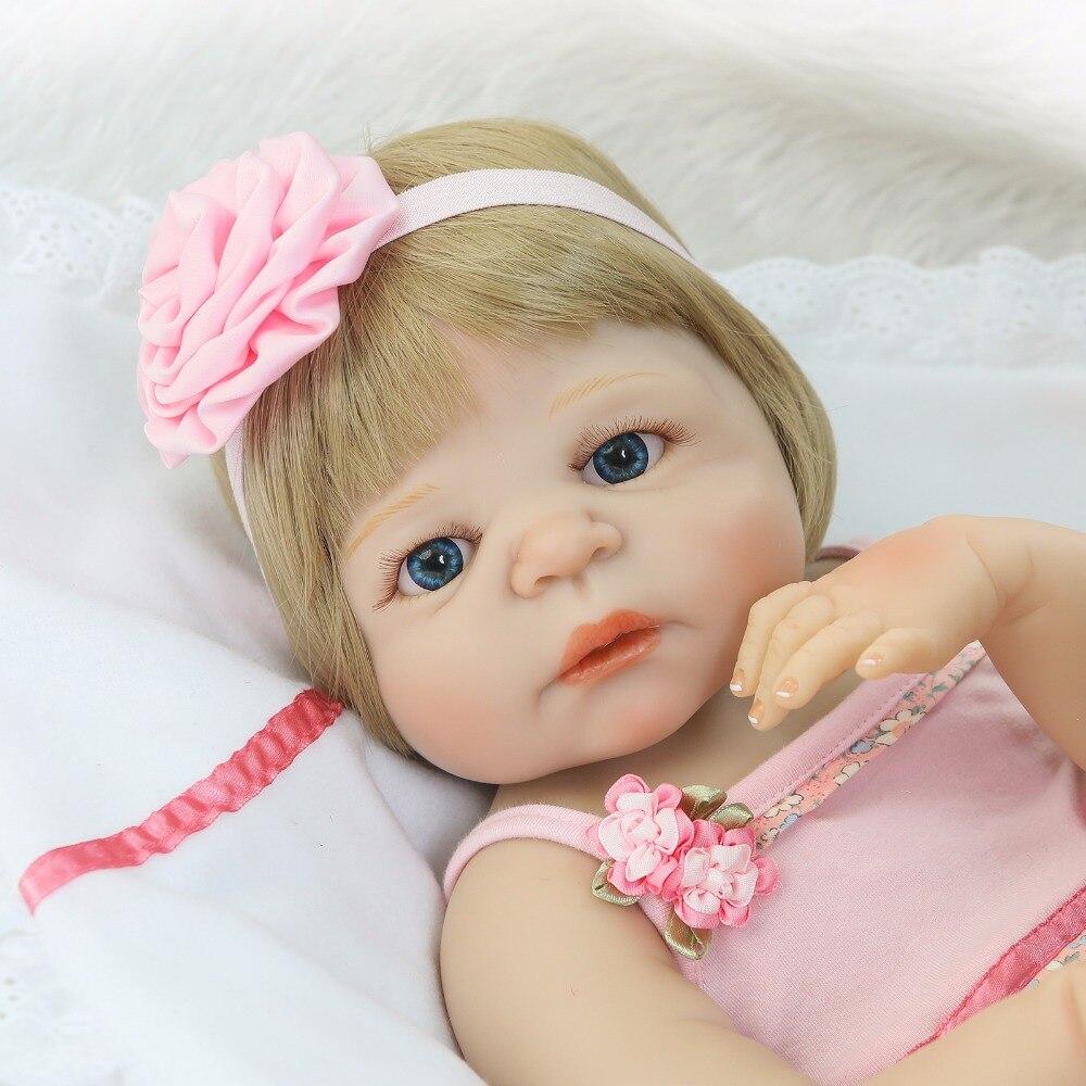 NPK 22 inch 55 cm reborn pop Vol Siliconen Body Levensechte Baby s Pasgeboren Mode Pop Kerstcadeau Nieuwe Jaar gift-in Poppen van Speelgoed & Hobbies op  Groep 3
