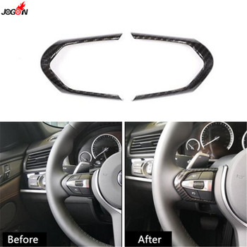 ABS Carbon Fiber Look Steering Wheel Button Switch Cover Trim Sticker For BMW M3 F80 M4 F82 F83 M5 F10 M6 F06 X5M F15 X6M F16 image