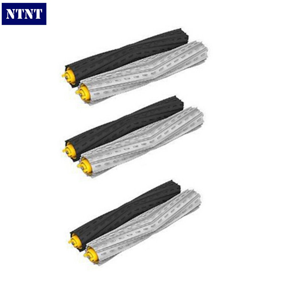 NTNT Free shipping 3 set Tangle-Free Debris Extractor Brush for iRobot Roomba 800 Series 870 880 Vacuum Cleaner replacement
