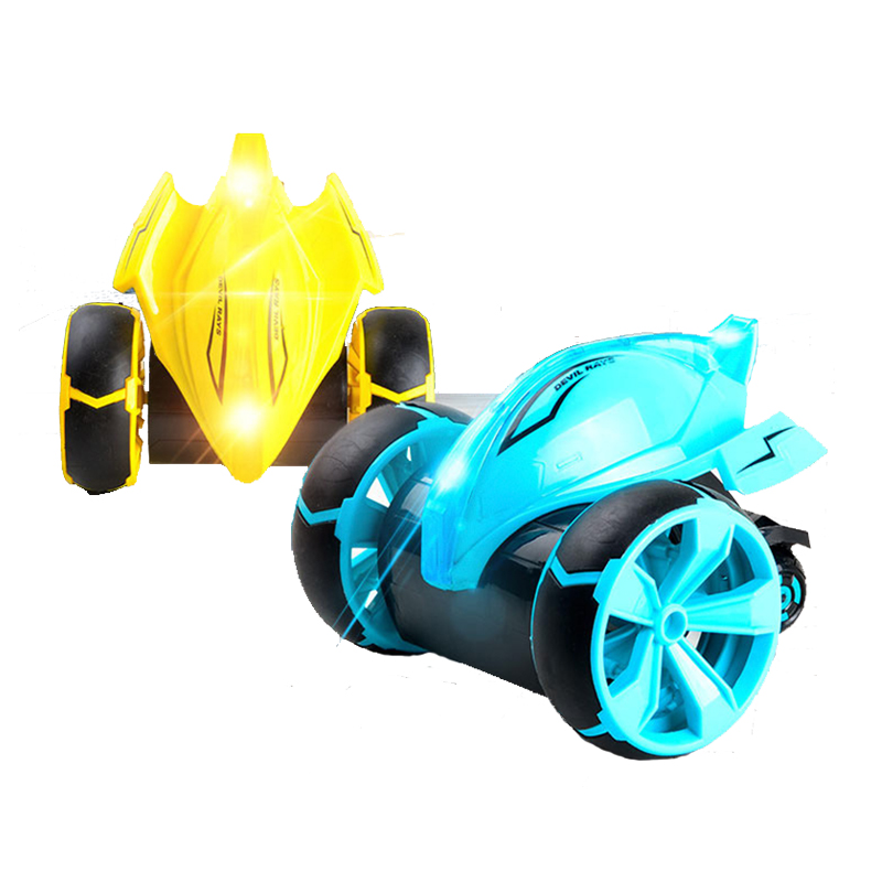 2018 New High Speed RC Car Bounce Jumping Cars Remote Control Toys Flexible Wheels 360 Rotation LED Light Stunt Car Kids Toys цена 2017