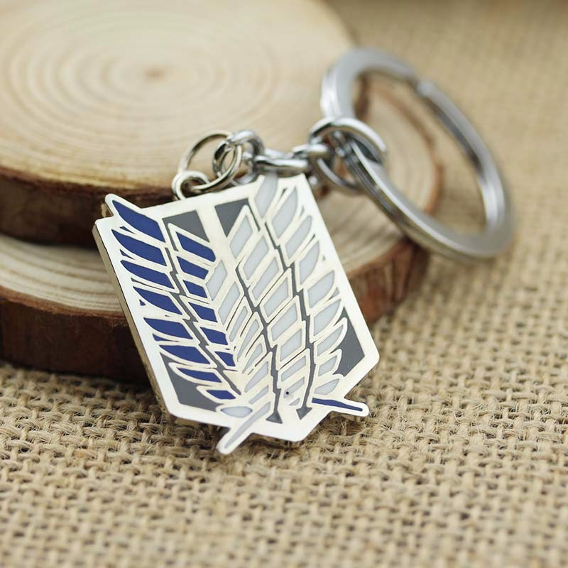 Game styles font b Anime b font Attack On Titan Keychain Alloy Pendant Key Chain Ring