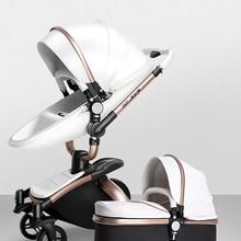 AULON High Landscape Baby Stroller 2 In 1 Eggshell Carriage Split Style Luxury Hot Mom Trolley