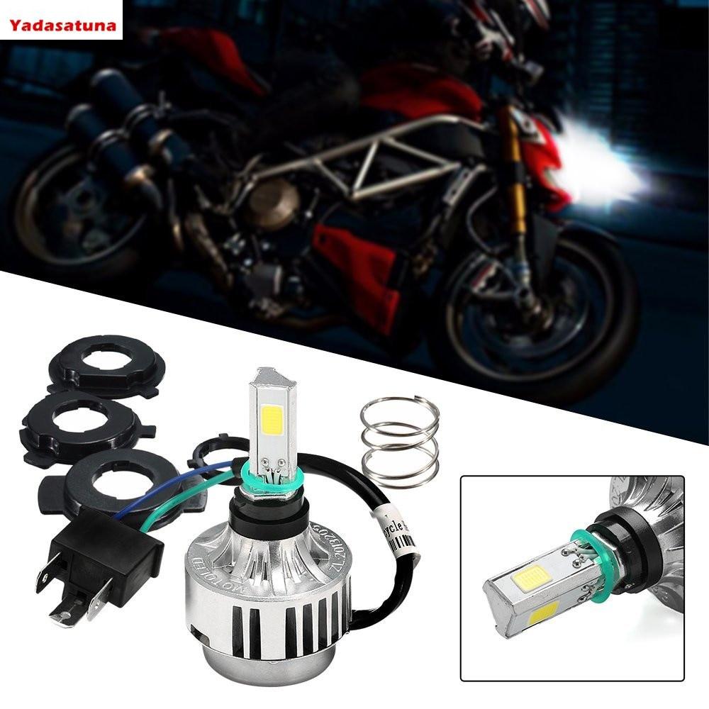 2*Car White 6000K 32W Motor Hi/Low Beam Headlight H4 P15D BA20D IP67 6-36V Motorcycle Headlamp 3 LED COB 1800LM Motorcycle Bulb