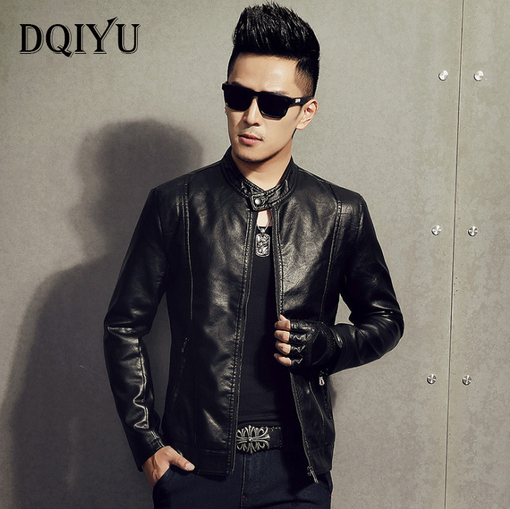 2018 Motorcycle leather jacket Autumn Slim Casual Men leather jackets Top quality Faux Leather comfortable biker jacket