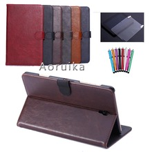 For Samsung Galaxy Tab S 8.4″ T700 T705C Luxury Wallet Leather Case Smart Book Cover Flip Magnetic Tablet Case +film+pen