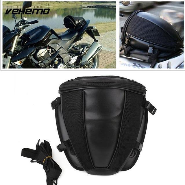 Vehemo Saddle Bag Motorcycle Rear Seat Moto Tank Racing Oil Tail Bags