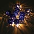 1.8m 10 Rattans Wicker Balls LED String Lights Fairy Led Outdoor Light Wedding Party Decor Waterproof IP44 EU Plug AC220V