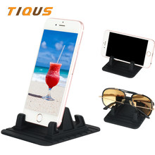 TIQUS Multifunctional Silicon Mobile Phone Holder Universal Car Phone Holder for Xiaomi Huawei Desktop Phone Holder Mount Stand(China)