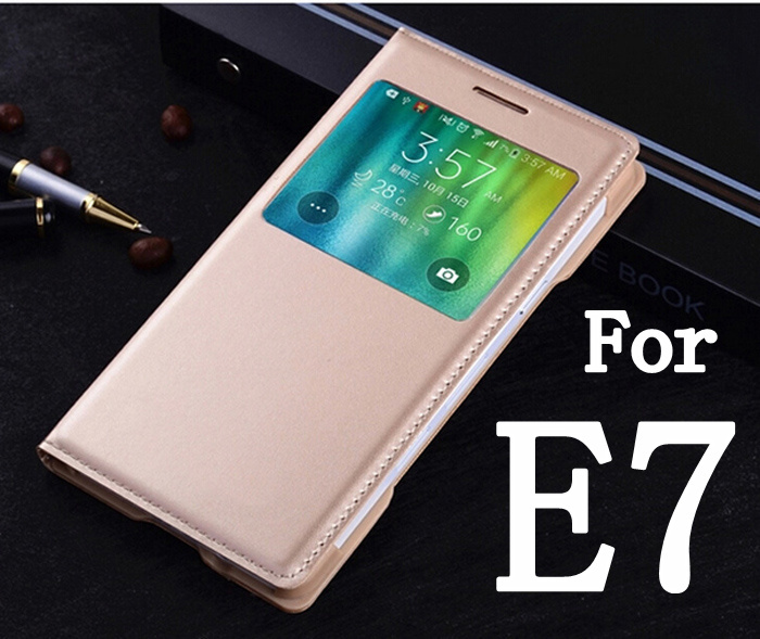 pretty nice c63d8 3eff2 US $2.16 23% OFF|For Samsung Galaxy E7 E7000 E700F New Quality Case Phone  Back Cover bags Luxury Flip Leather Case-in Flip Cases from Cellphones & ...