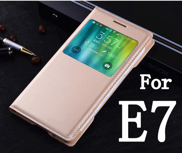 pretty nice c63d8 3eff2 US $2.16 23% OFF For Samsung Galaxy E7 E7000 E700F New Quality Case Phone  Back Cover bags Luxury Flip Leather Case-in Flip Cases from Cellphones & ...