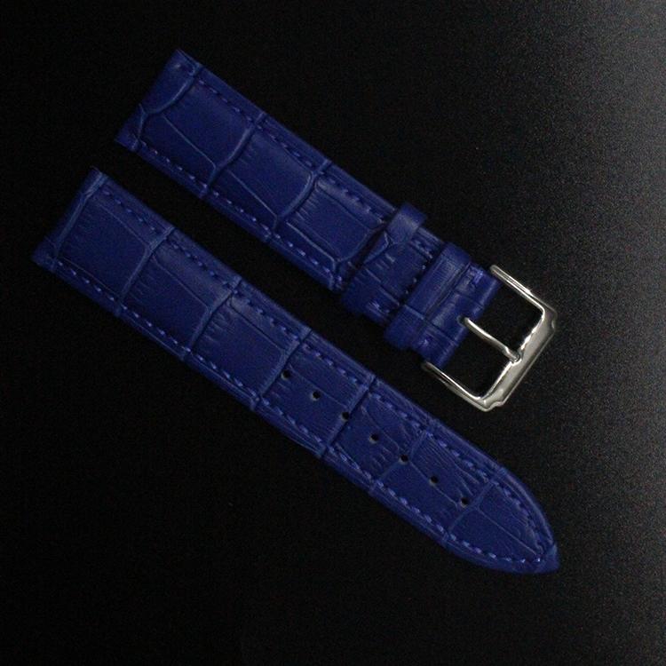 Prix pour Crocodile Motif Véritable Vache Bracelet En Cuir Montre de Courroie De Bande bleu foncé Bracelet hommes femmes 14mm 16mm 18mm 20mm 22mm promotion
