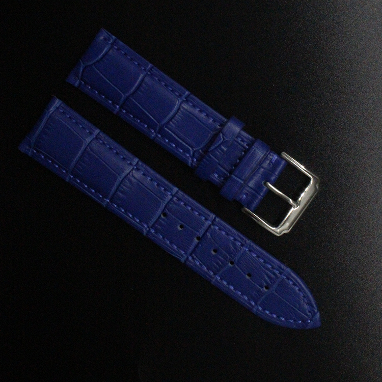 Crocodile Pattern Genuine Cow Leather Strap Watch Band Strap dark blue Watchband men women 14mm 16mm 18mm 20mm 22mm promotion new fashion replace watch band 22mm 24mm mens womens dark blue 100% genuine crocodile grain leather watch strap band bracelets