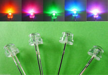 1000PCS/lot Free Shipping straw hat Clear Lens 5MM led flash light multicolor diode automatic flashing 0.07W  3.2-3.4V