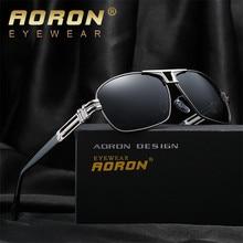 Aoron New Fashion High Quality Polarized Sunglasses Men Luxury Brand Designer Cool Driving UV400 Vintage Sun Glasses