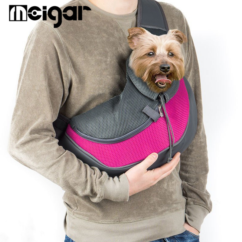 Pet Carrier Cat Puppy Small Animal Dog Bags Sling Front Mesh Travel Tote Shoulder Bag Breathable Backpack Pet Sl 5color Optional