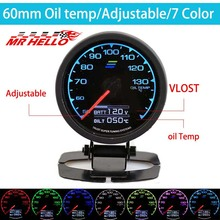 GDy Gauge Oil Temp 7 Light Color LCD Display With Voltage Temperature 62mm 2.5 Sensor Greddi