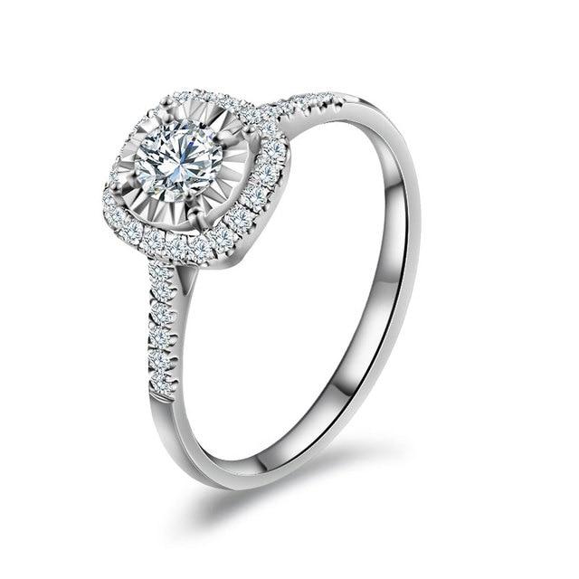 Bien-aimé 18 K Or Et Or Blanc Platine De Mariage Couple Bague en Diamant  ZE26