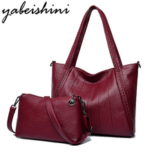 цена на Luxury Women Handbag Designer High Quality Sheepskin Leather Lady Shoulder Messenger Bag Women Brand Big Tote With Crossbody Bag