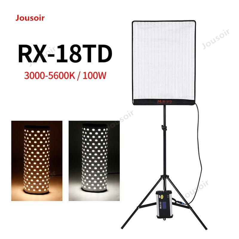 Falconeyes RX-18TD 504 светодиодный Вт 100 шт. гибкая светодиодная лампа Rollable тканевая лампа с ЖК-сенсорным экраном контроллер + X-shape поддержка CD05T03