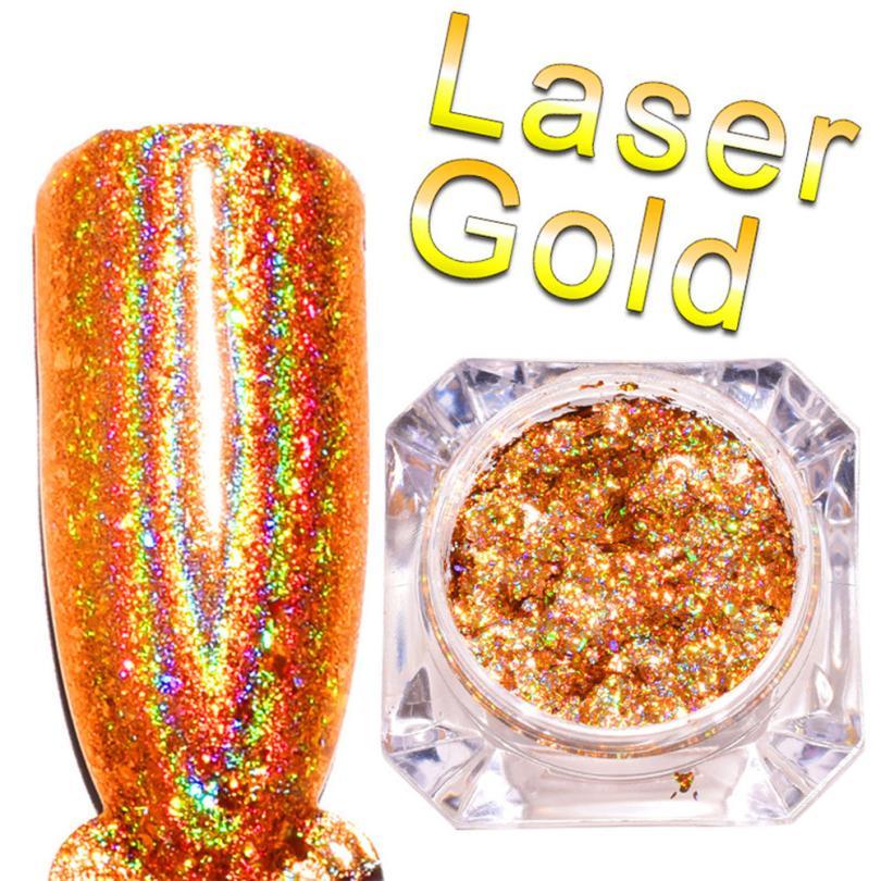 1 коробка зеркало Лаки для ногтей Покрытие серебряной пасты металла Цвет гель Нержавеющаясталь DIY Оптовая Dropshopping 1.19