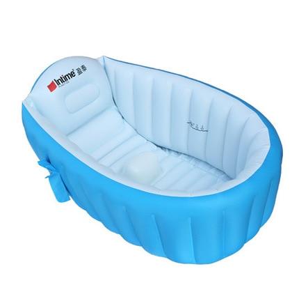 ФОТО bathtub inflatable baby pool 96*60*30CM inflatable  bath tub  pools for baby kids inflatable intex child baby swimming pool tub