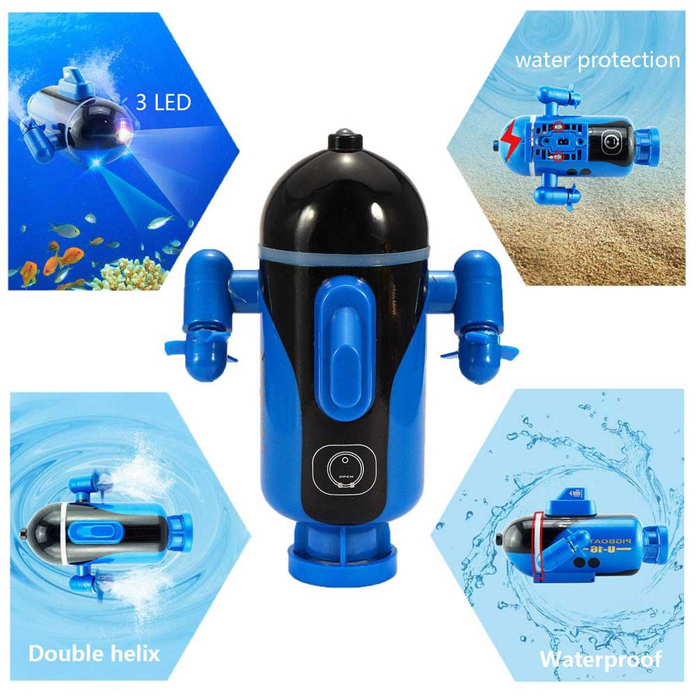Image 3 - Mini RC Submarine Remote Control Under Boat Submarine Bath Toys Bathtub Pools Lakes Toys Model Electric Kids Toy-in RC Submarine from Toys & Hobbies