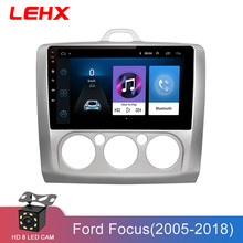 LEHX coche Android 8,1 GPS navegación coche Radio reproductor de vídeo Multimedia para ford focus 2 3 2006-2011 Hatchback no 2 din dvd(China)