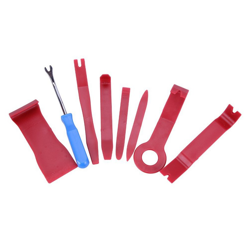 8pcs Hard Plastic Auto Car Radio Panel Interior Door Clip Panel Trim Dashboard Removal Opening Tool DIY Car Repair Tool Kit 0255
