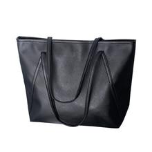 Простые кожаные женщин возросла Курьерские сумки сумка-шоппер Новый Цвет: черный