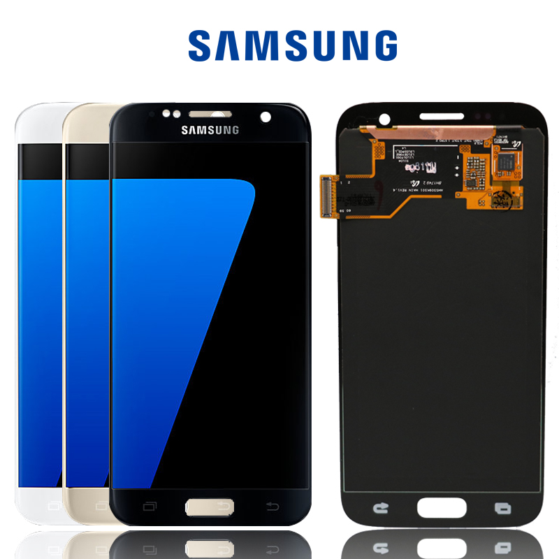 ORIGINAL SUPER AMOLED 5 1 LCD Replacement with Frame for SAMSUNG Galaxy S7 Display G930 G930F