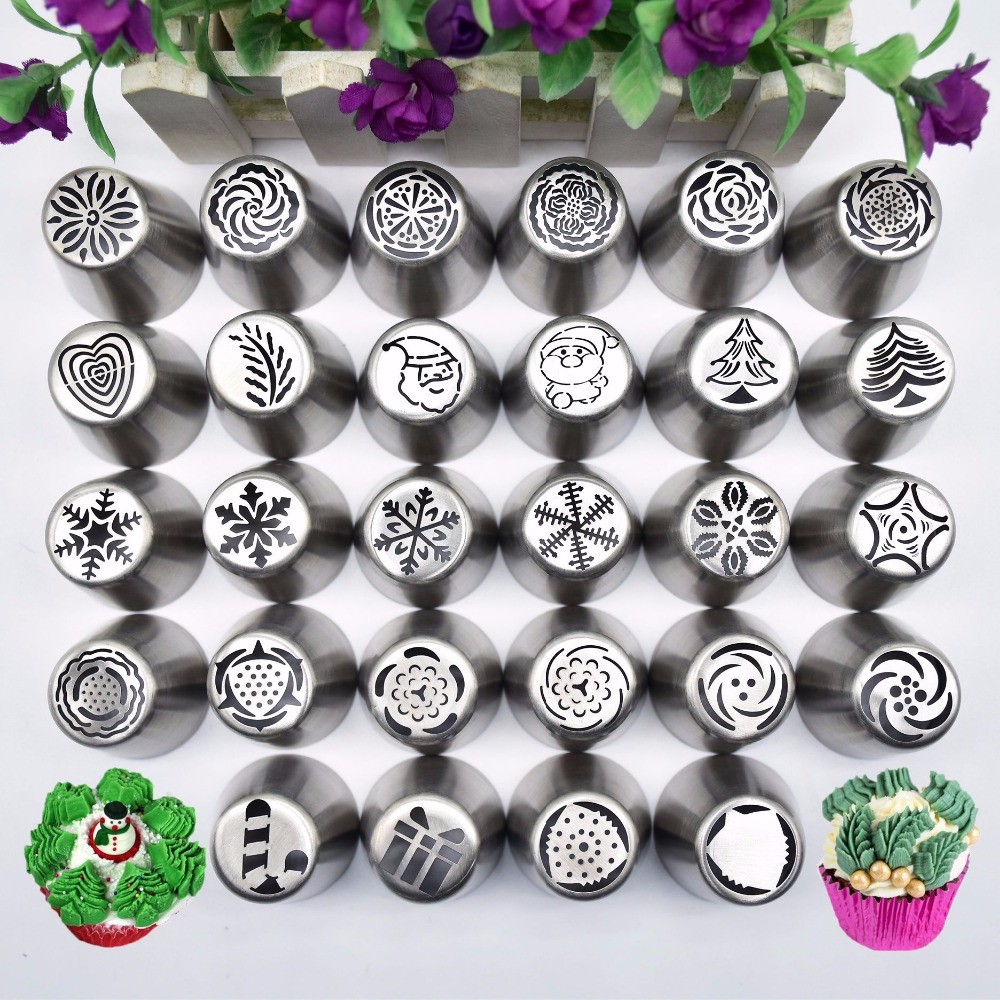 New Snow Style Pastry Nozzle Year Christmas Snowflakes Piping Tips Fondant Cake DIY Decorating Tools