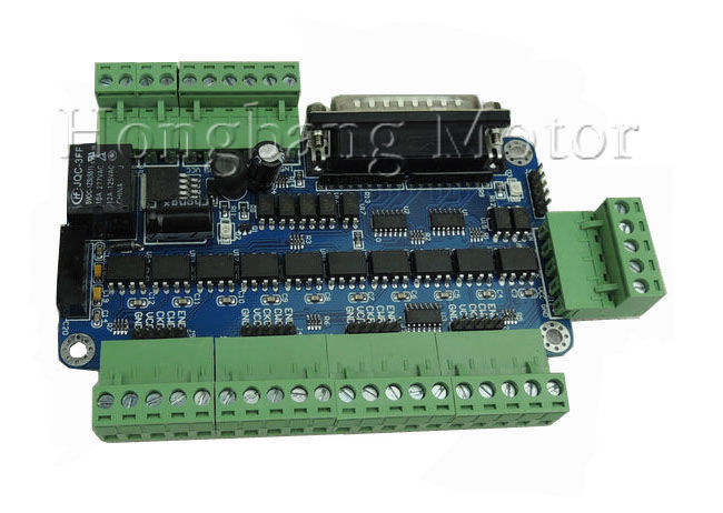 mach3 5 axis CNC Breakout Board interface 12-60VDC power supply(High-speed optocoupler Edition) + one DB25 caplemach3 5 axis CNC Breakout Board interface 12-60VDC power supply(High-speed optocoupler Edition) + one DB25 caple