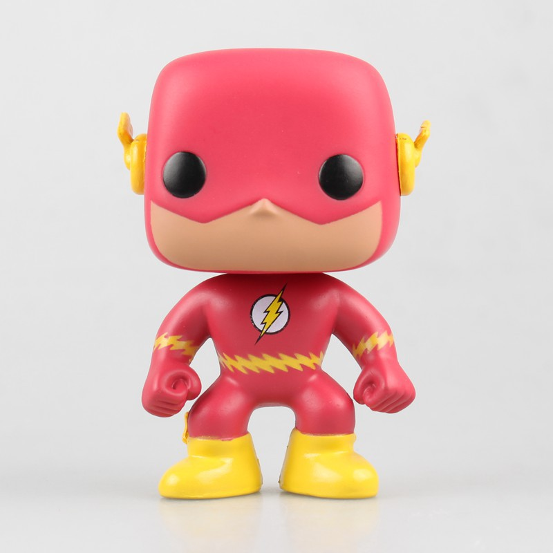 FUNKO POP! DC COMICS Super Heroes #10 The Flash Vinyl Figure PVC Action Figure Collectible Model Toy 10cm KT3908  funko pop wonder woman pvc action figure collectible model toy 10cm wonderwoman