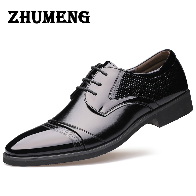 2017 Luxury Mens Dress Shoes Genuine Leather Italian Brown Cap Toe Basic Flats Wedding Designer Shoes Men Oxfords Size 12 top quality crocodile grain black oxfords mens dress shoes genuine leather business shoes mens formal wedding shoes