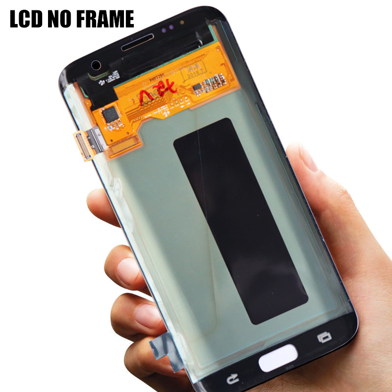 HTB1uKdBXRiE3KVjSZFMq6zQhVXa0 5.5'' The Burn-Shadow LCD For Samsung Galaxy S7 Edge Display With Frame G935F G935FD Screen Digitizer Assembly With Service Pack
