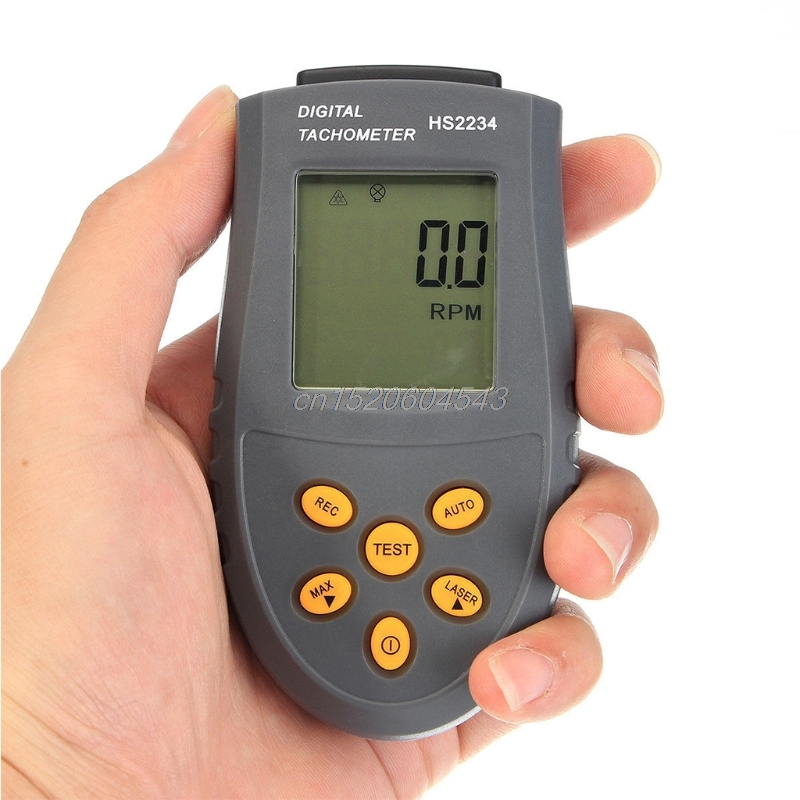 Digital Tachometer RPM Rotation Speed Gauge Meter Tester Revolution Counter Tach R05 Drop ship victor dm6235p digital tachometer
