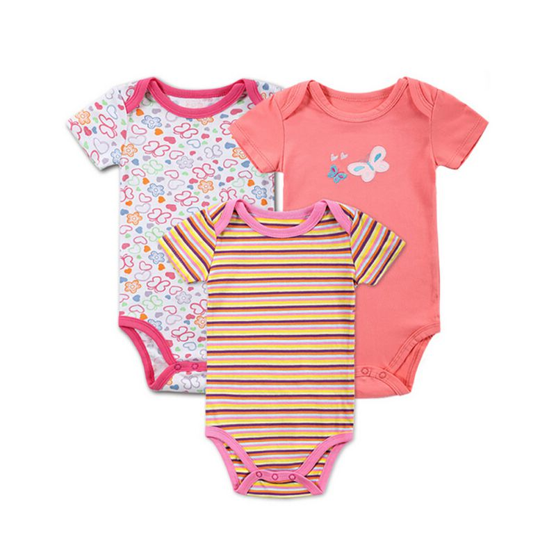 8bc0bd272ebe Aliexpress.com   Buy 3 PCS 2017 Baby Boy Girl Short Sleeve Cotton ...