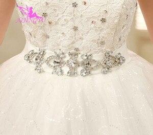 Image 3 - Aijingyu 2021 fotos reais nova venda quente barato vestido de baile rendas até voltar formal vestidos de noiva vestido de casamento wk321